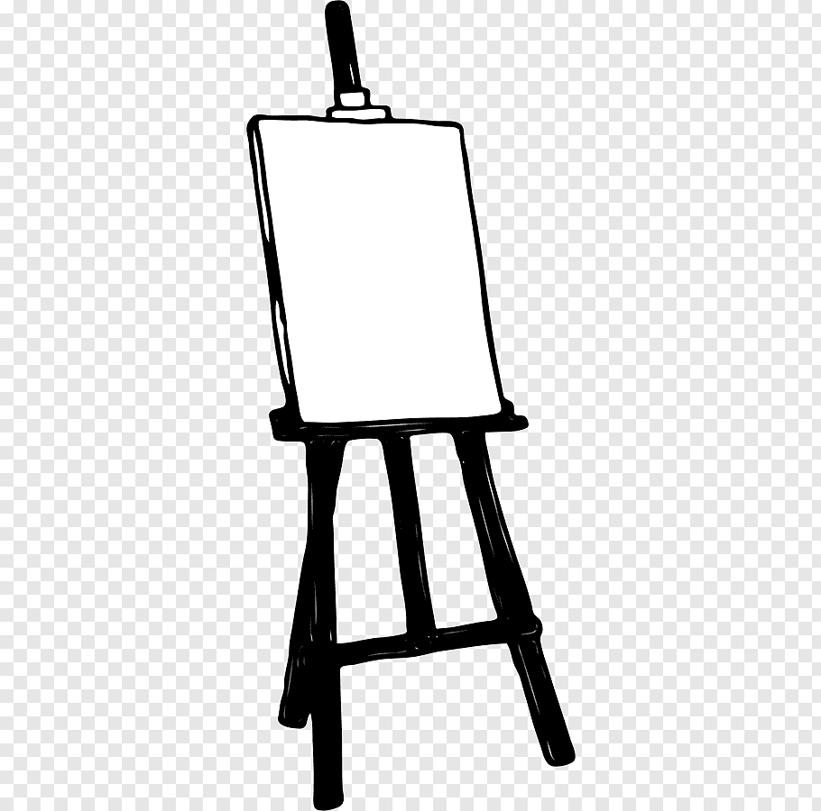 Black easel graphic, Art Easel Painting, Easel s free png.