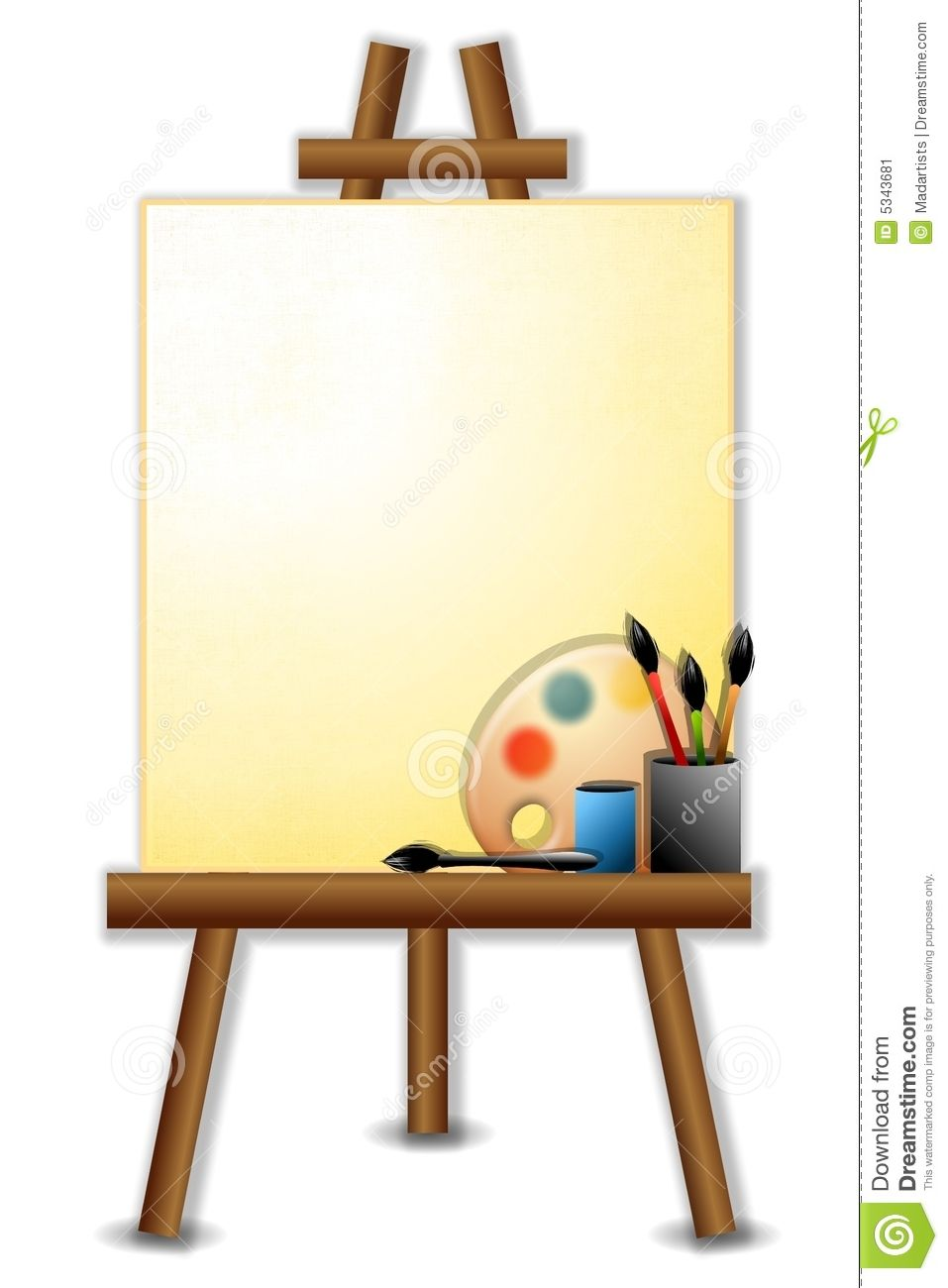 Art easel paint holder clipart clipart images gallery for.