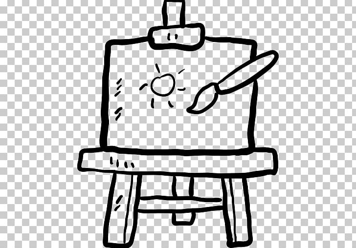 Black And White Easel Painting Canvas PNG, Clipart, Area.