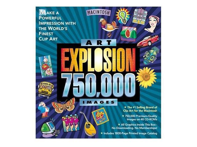 Nova Development Art Explosion 750000 DVD for Macintosh.