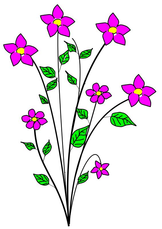 Free flower clip art image.