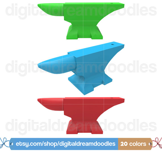 Anvil Clipart Forge Clip Art Picture by DigitalDreamDoodles.