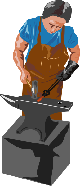 Blacksmith Working clip art Free Vector / 4Vector.