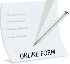Fill Out Form Clipart.