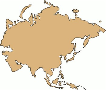 Asia Continent Clipart.