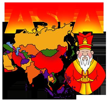 Asia clip art.