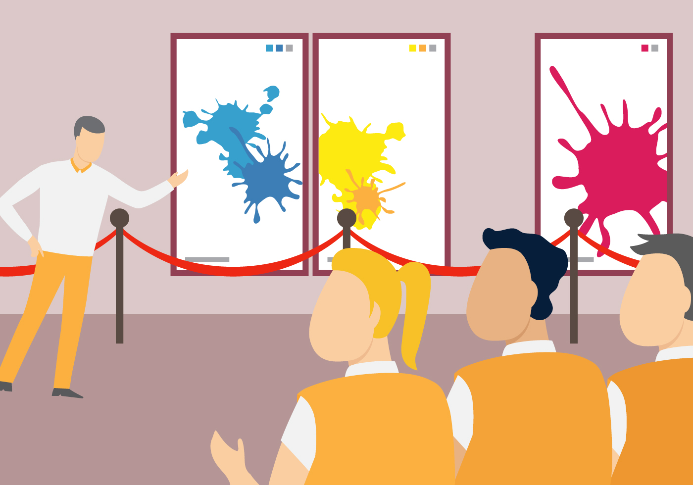 Exhibition Hall Free Vector Art.