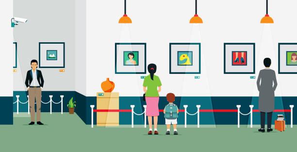 Best Art Gallery People Illustrations, Royalty.