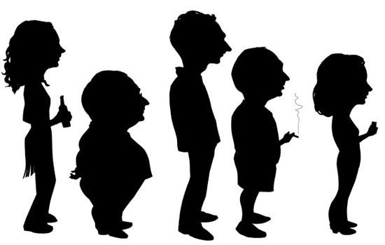 Silhouette Clip Art: Free People Silhouette Clipart Gallery.