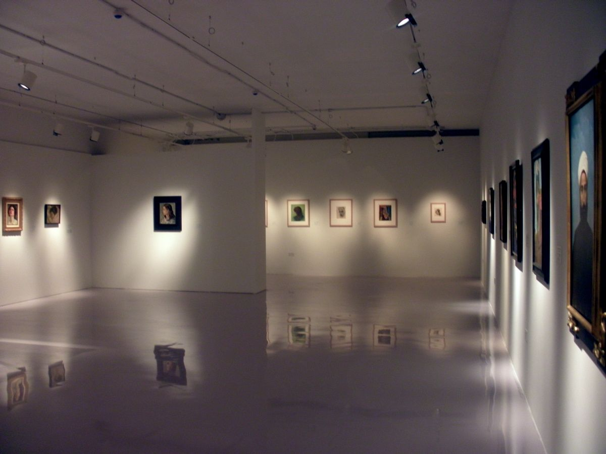 art gallery interior.