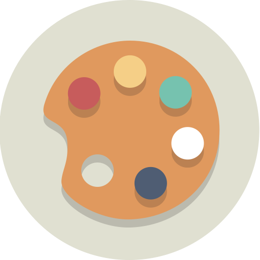 Art, painting, palette icon.