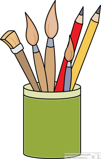Showing post & media for Cartoon art supplies clip art.