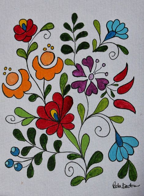 17 Best ideas about Folk Art Flowers on Pinterest.