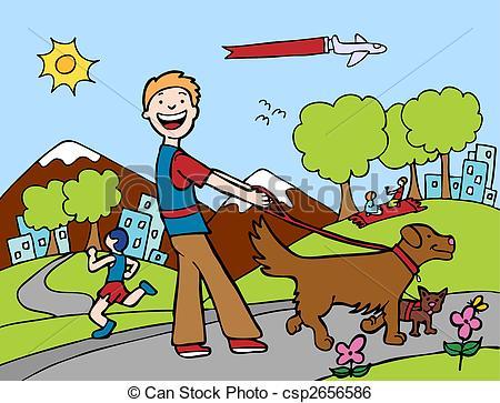 Clip Art Dog Park Clipart.
