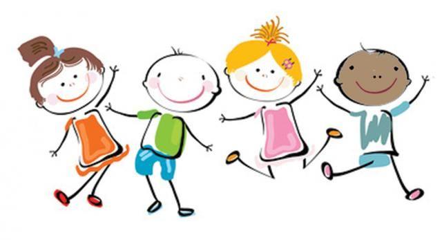 Happy Kids Clip Art.