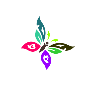 Vector art logo colours butterfly1 download.