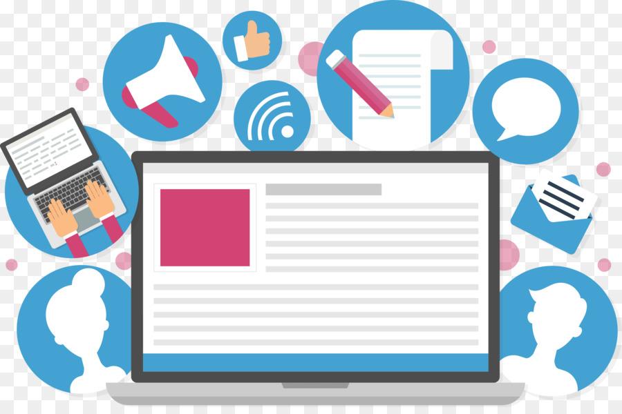 Content marketing Clip art.