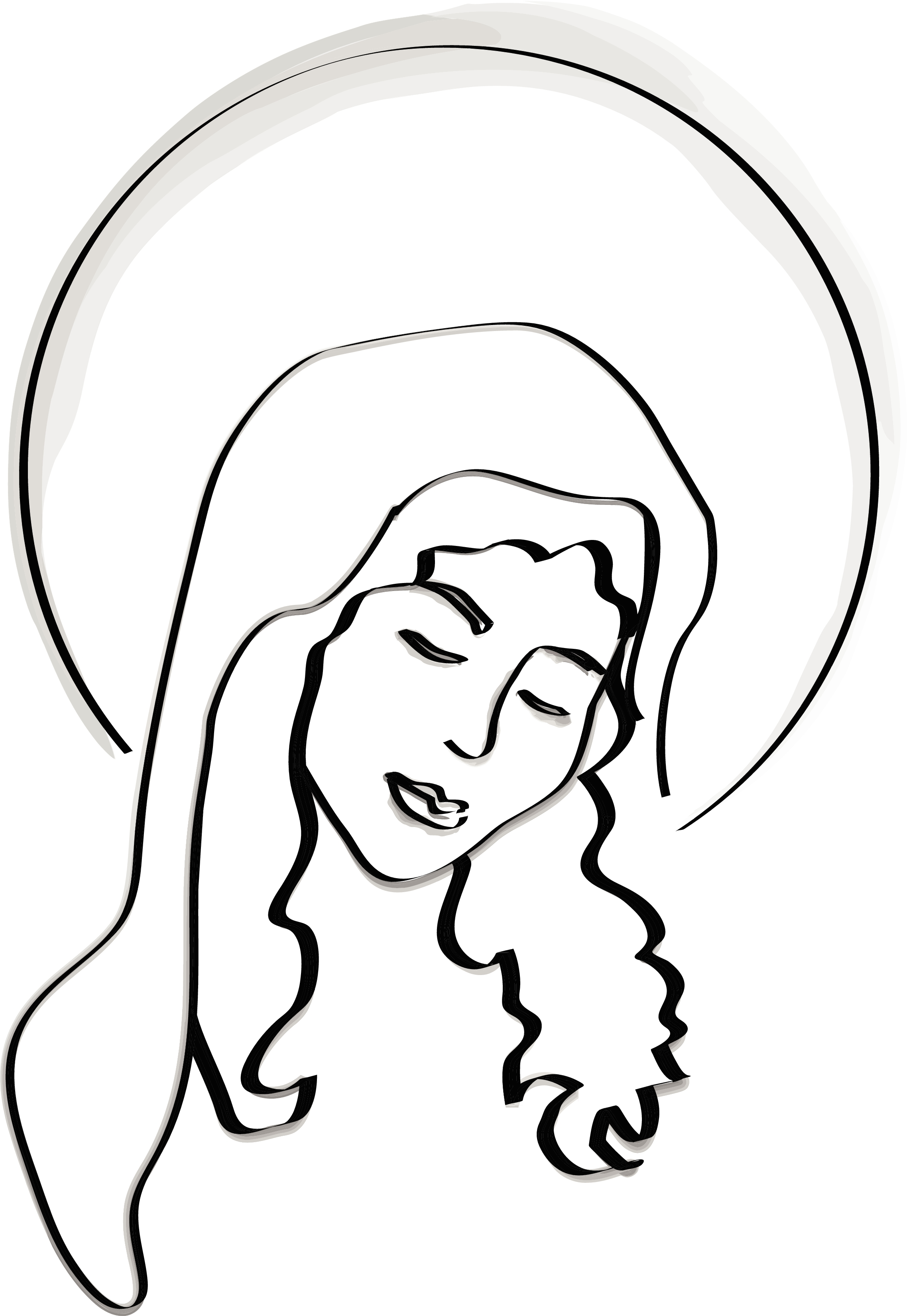 Blessed Virgin Mary Clip Art N2 free image.