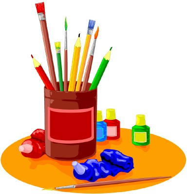 Art Supplies Clip Images