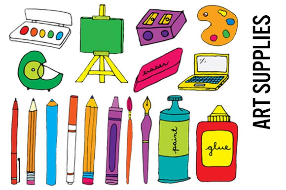 Free clipart of art supplies clipground for Arts and crafts supplies online