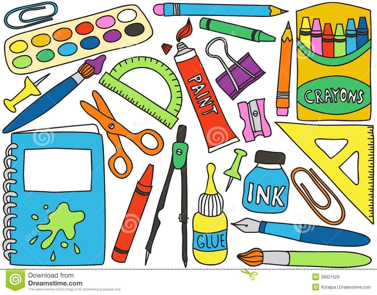 Art Materials: Art Materials Clipart.