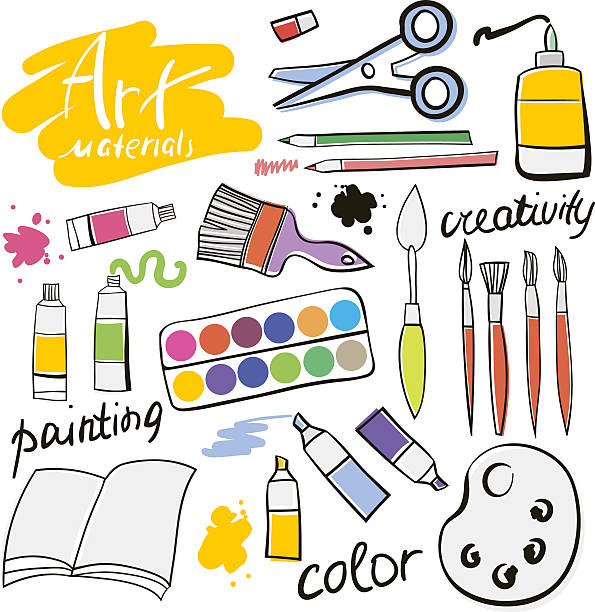 Best Art Supplies Illustrations, Royalty.