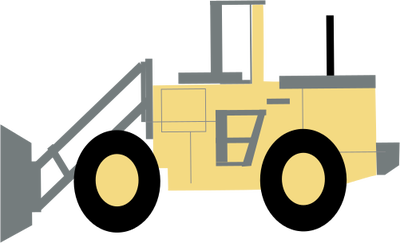 How To Draw A Bulldozer.
