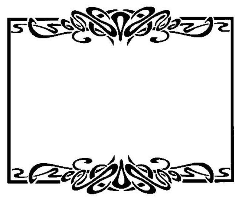 Border Art Nouveau 25 by *Beinspyred on deviantART.