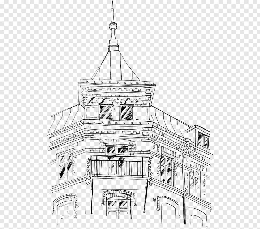 Art Nouveau Architecture cutout PNG & clipart images.