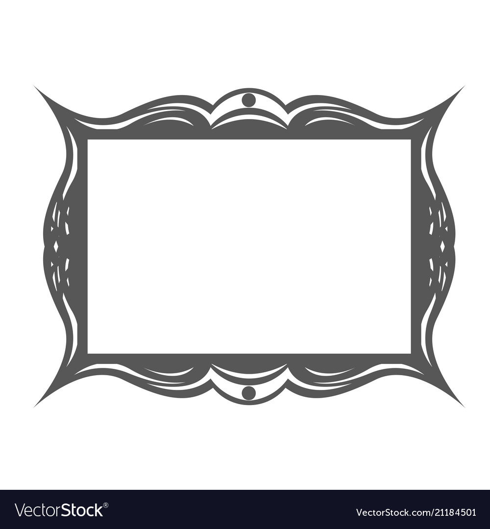 Retro frame in art nouveau style with wavy border.