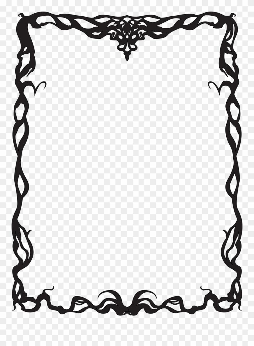 Art Nouveau Border Clip Art Images.