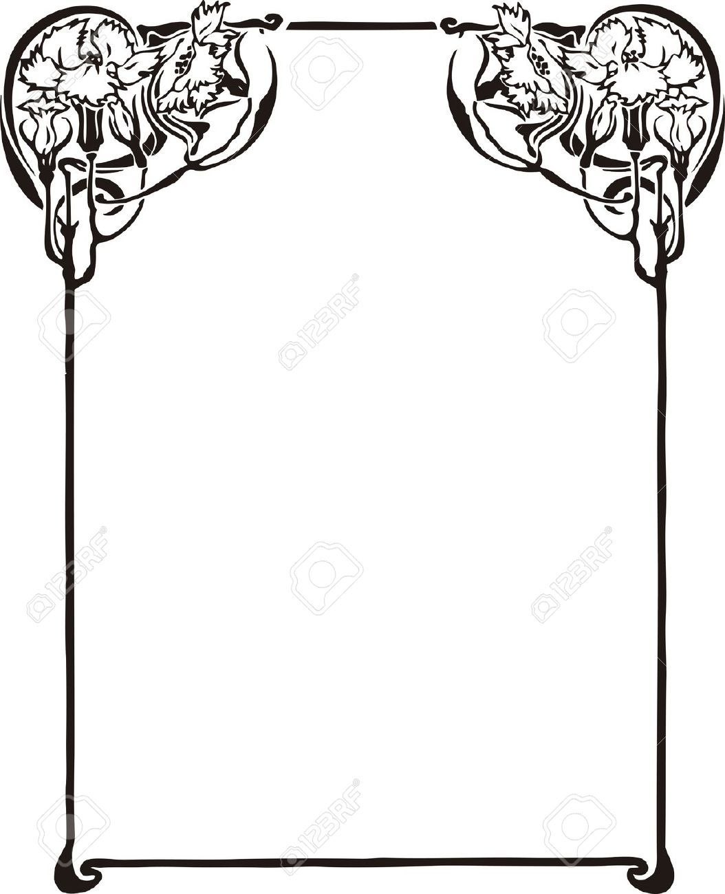 Art Nouveau Border Stock Illustrations, Cliparts And Royalty.