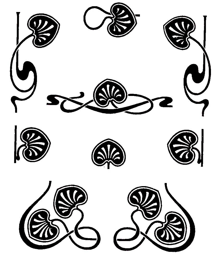 Art Nouveau Clipart.