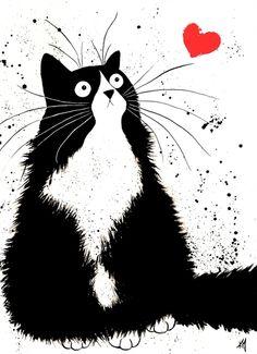Art Nouveau Cat Poster.