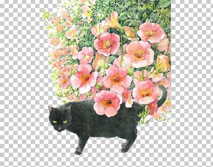 Japan Cat Art Watercolor Painting Illustration PNG, Clipart.