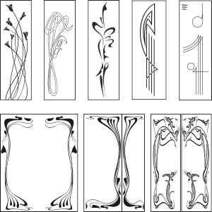 Free graphic downloads: Art Nouveau Designs. Vector Clipart. Free.