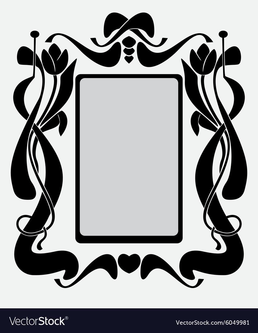 Frame like Art Nouveau.