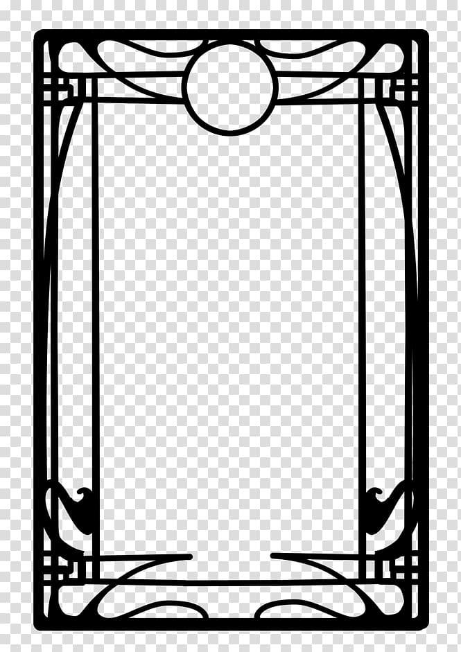 Rectangular black frame illustration, Borders and Frames Art Nouveau.