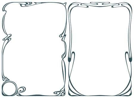 8,084 Art Nouveau Border Stock Illustrations, Cliparts And Royalty.