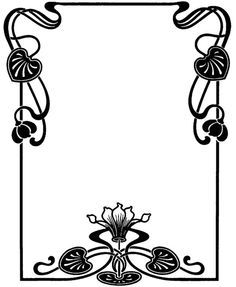 art nouveau frames and borders.