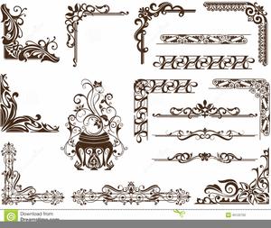 Free Art Nouveau Clipart Borders.