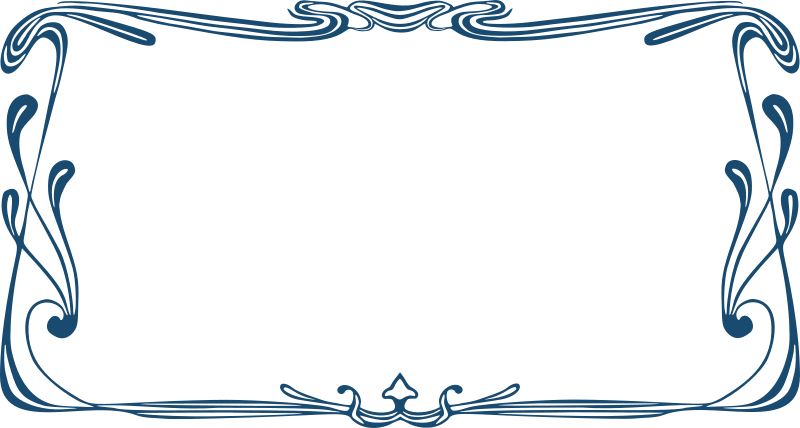 Free Clipart: Art Nouveau Frame.