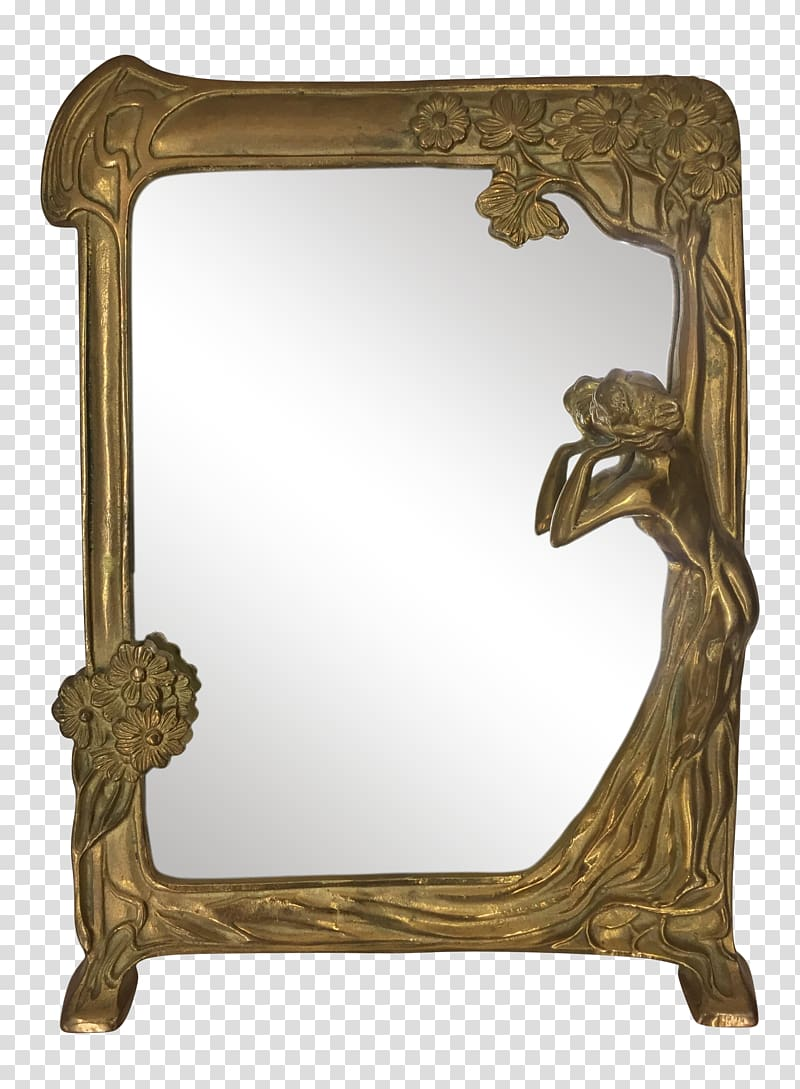 Art Nouveau Art Deco Mirror, design transparent background.