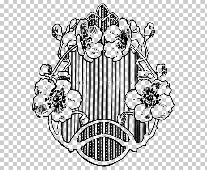 Art Nouveau Drawing Line art , design PNG clipart.