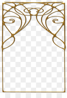 Art Deco Borders PNG.