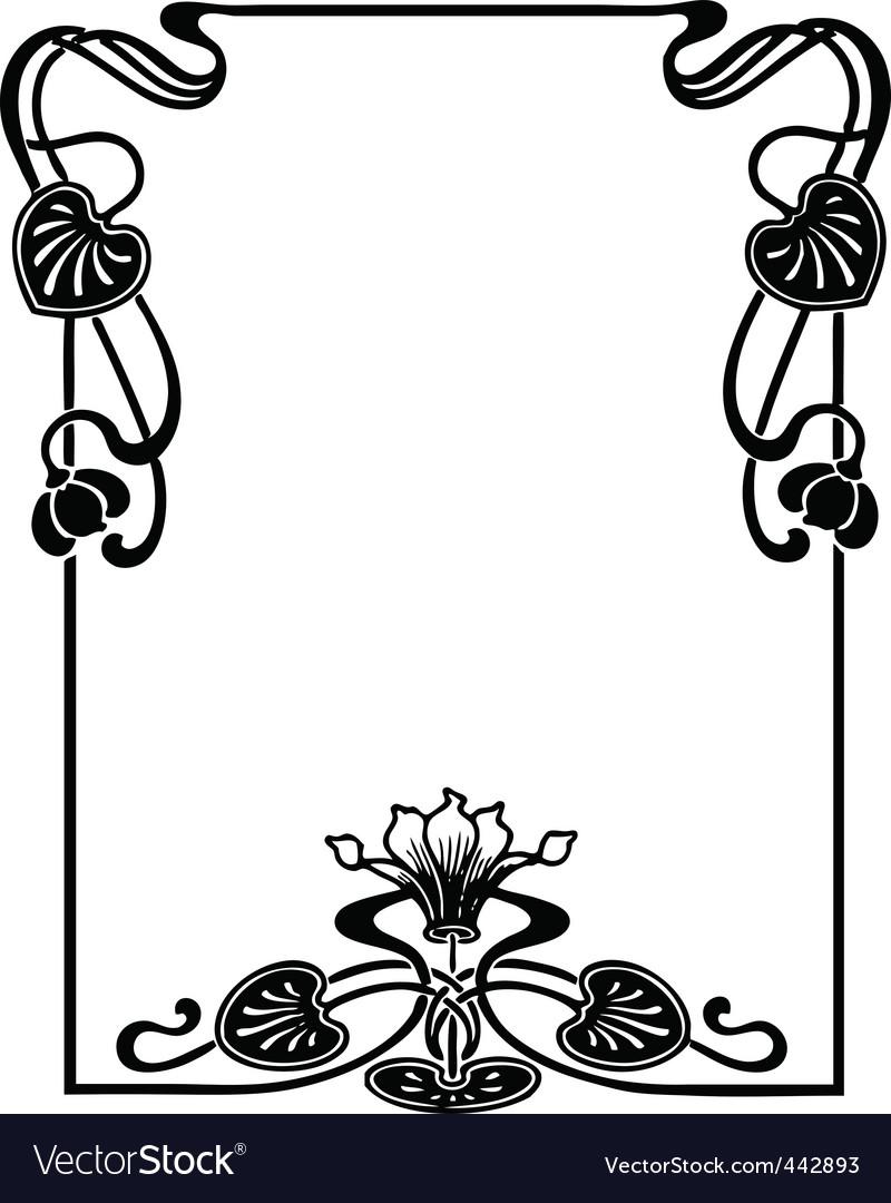 Floral Art Nouveau frame.