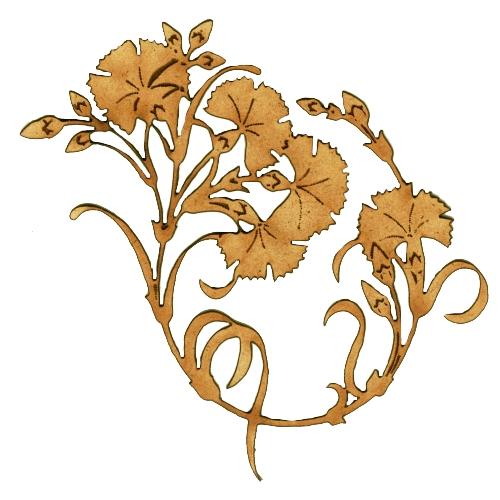 Art Deco & Nouveau Carnation Ornament.