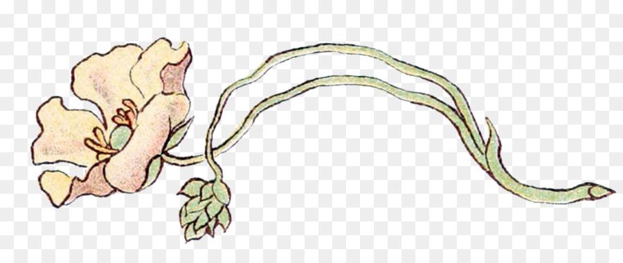 Art Nouveau Flower Clipart.