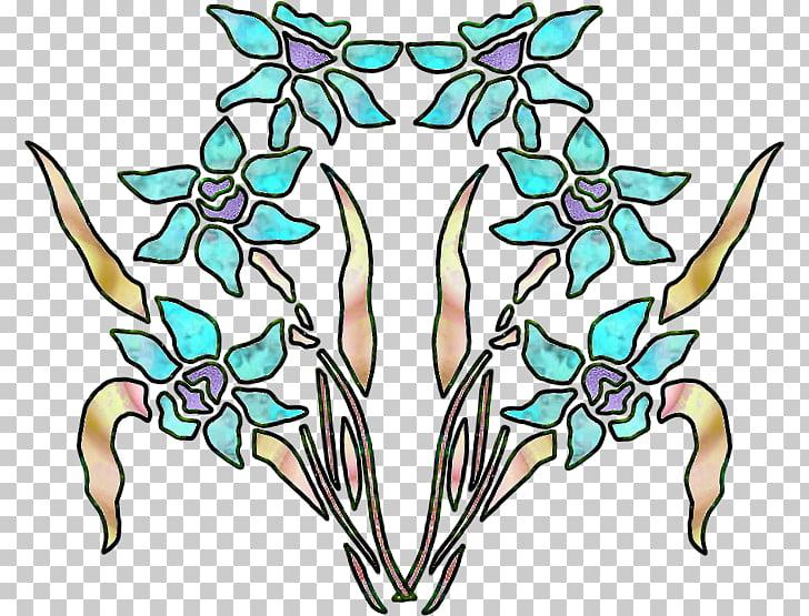 Art Nouveau Flower , art deco PNG clipart.