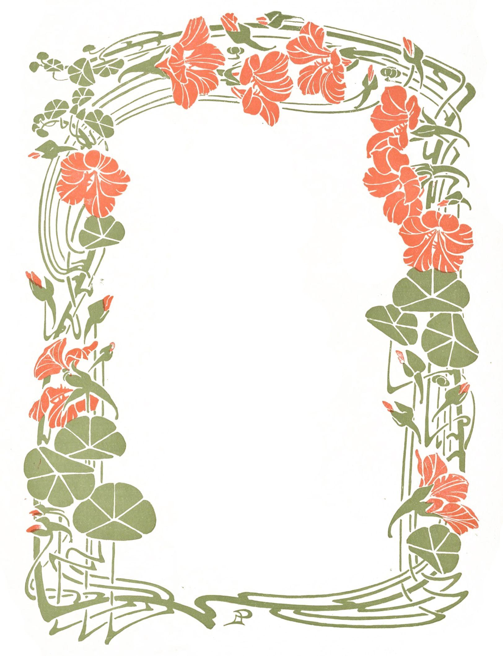 Vintage Art Nouveau Decorative Floral Frame … in 2019.
